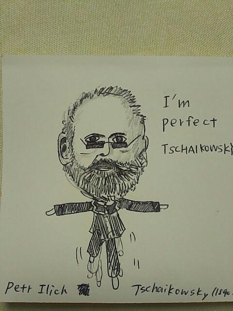 today's rakugaki パーフェクトチャイコフスキー